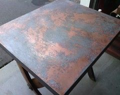 Amazing Stainless Steel Dining Tables   Photo Of Galvanized Steel With Distressing  And