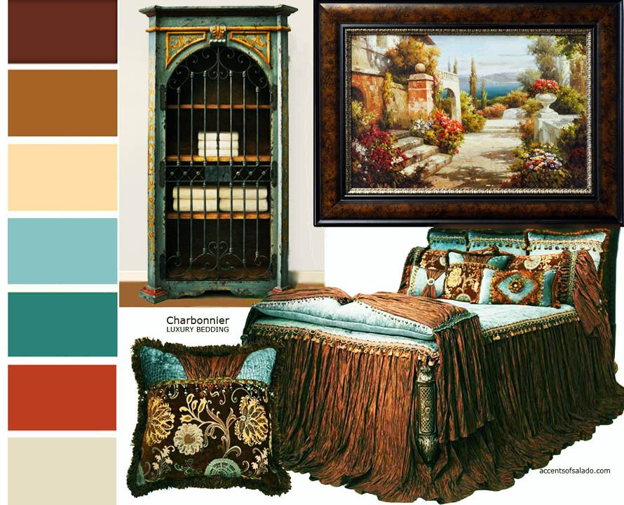 Tuscan Wall Colors | Bedding, wall art and even a favorite hand ...
