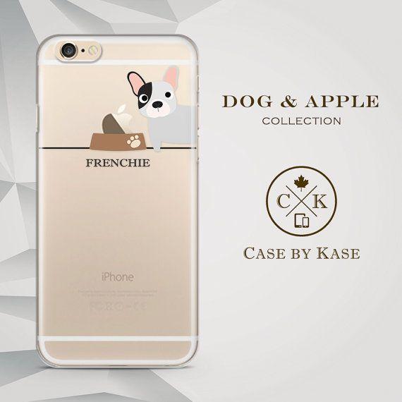 Frenchie / French Bulldog Black & White 2  Clear by CaseByKase