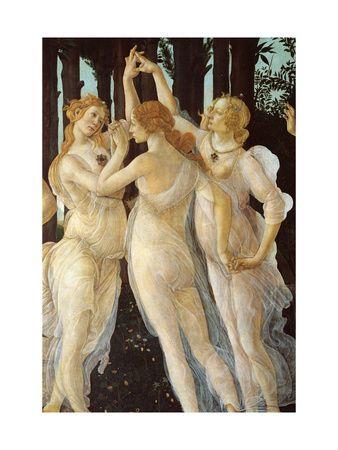 Primavera, Three Graces Art Print at AllPosters.com