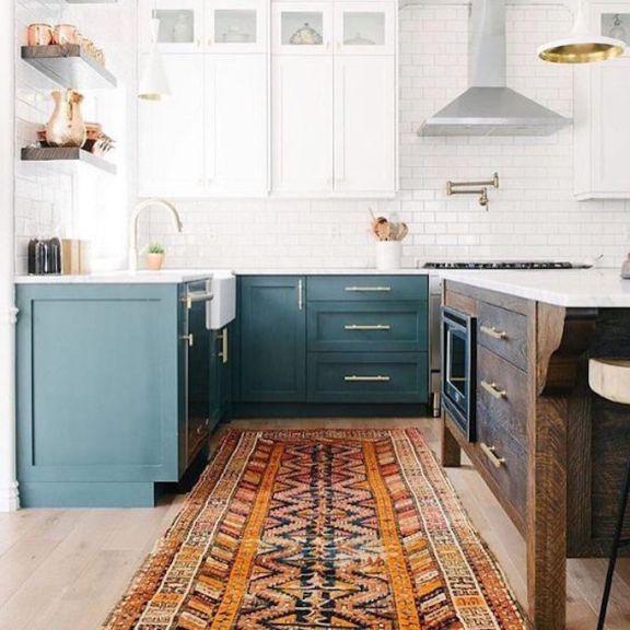 Kitchen Design Teal: Design Trend 2018: Two Toned KitchensBECKI OWENS
