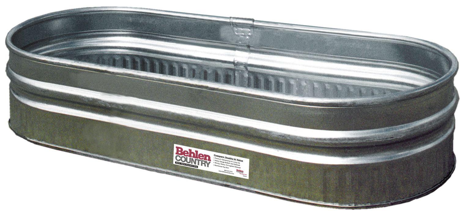 2x1x6 Shallow RoundEnd Tank. Stock tank, Galvanized