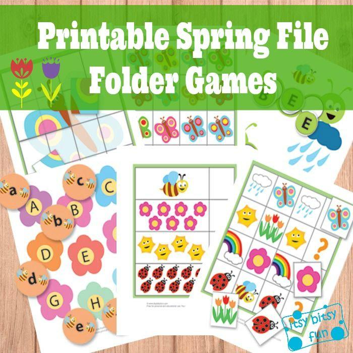 free file folder games for preschool