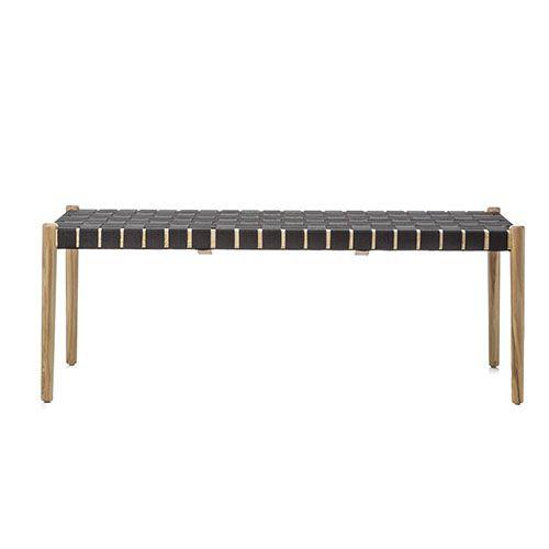 Fabulous Ravello Woven Bench Seat Ash Interiors Farm Bedroom Machost Co Dining Chair Design Ideas Machostcouk