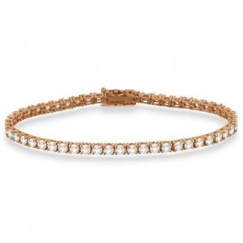 Eternity Diamond Tennis Bracelet 14k Rose Gold 4 13ct Tennis Bracelet Diamond Sterling Silver Bracelets White Gold Bracelet
