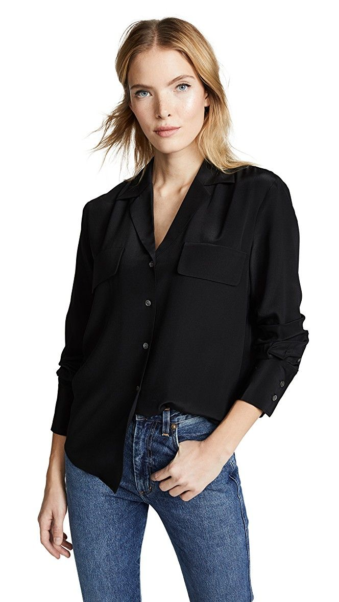 Pocket Silk Blouse in 2020 Fashion, French fashion, Style