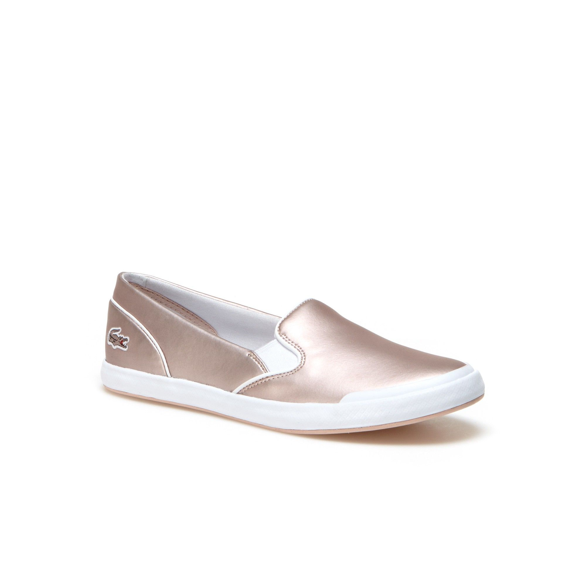 89f49bfd6ebe LACOSTE Women s Lancelle Matte Metallized Slip-Ons - light pink.  lacoste   shoes