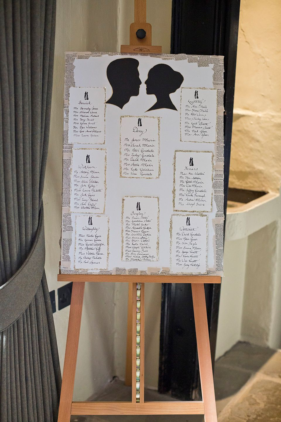 A Jane Austen and Literary Inspired Wedding | Table plans, Jane ...