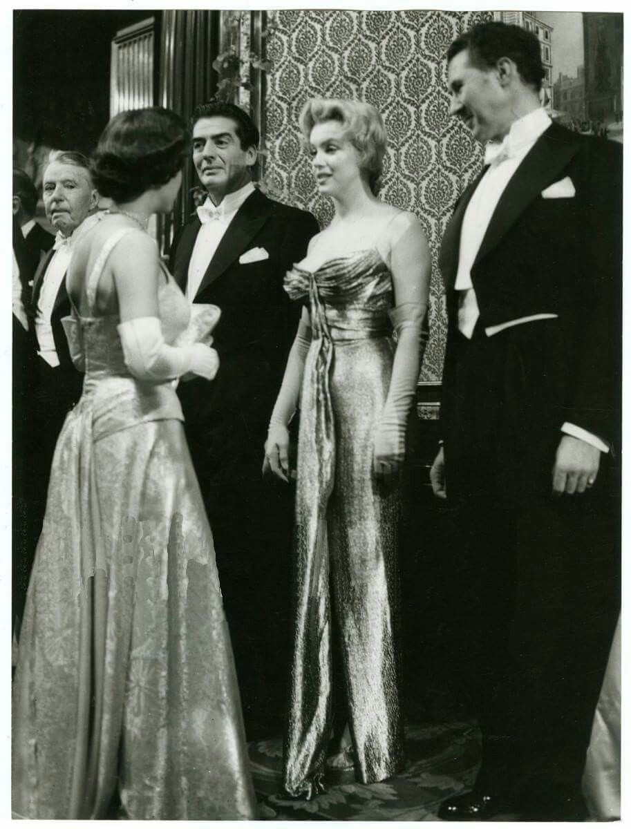 Marilyn Meets Princess Margaret At The Royal Film Premiere Of The