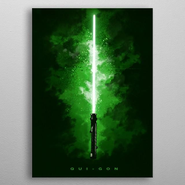 Qui-Gon Lightsaber Print On Metal - XL | Displate thumbnail