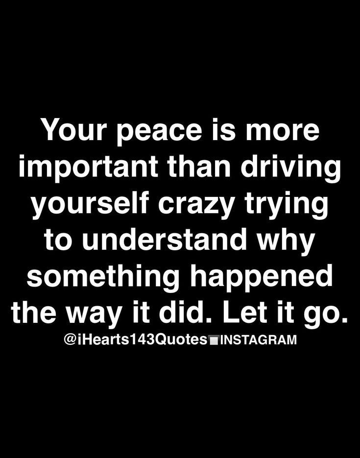 Peace is the most important thing.