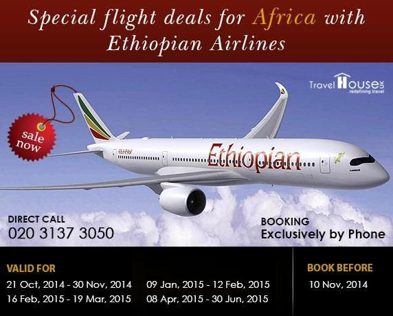 Ethiopian Airlines Special Flight Deals for #Africa  Dial