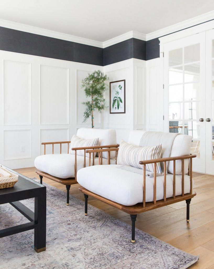 Denton Chair Mcgee Co Livingroom Farm House Living Room Home Living Room Living Room Designs