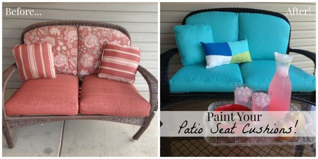 Paint Your Patio Seat Cushions And Transform Your Patio For Less Than $50!    Savers4Life Part 81