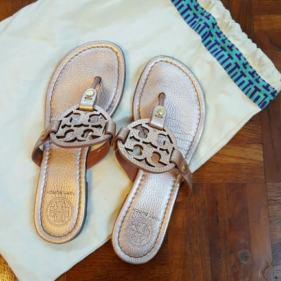 Tory Burch Miller Sandals - Rose Gold