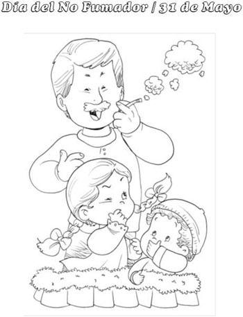 Coloreamos: Día del no fumador   Material De Aprendizaje   a ...
