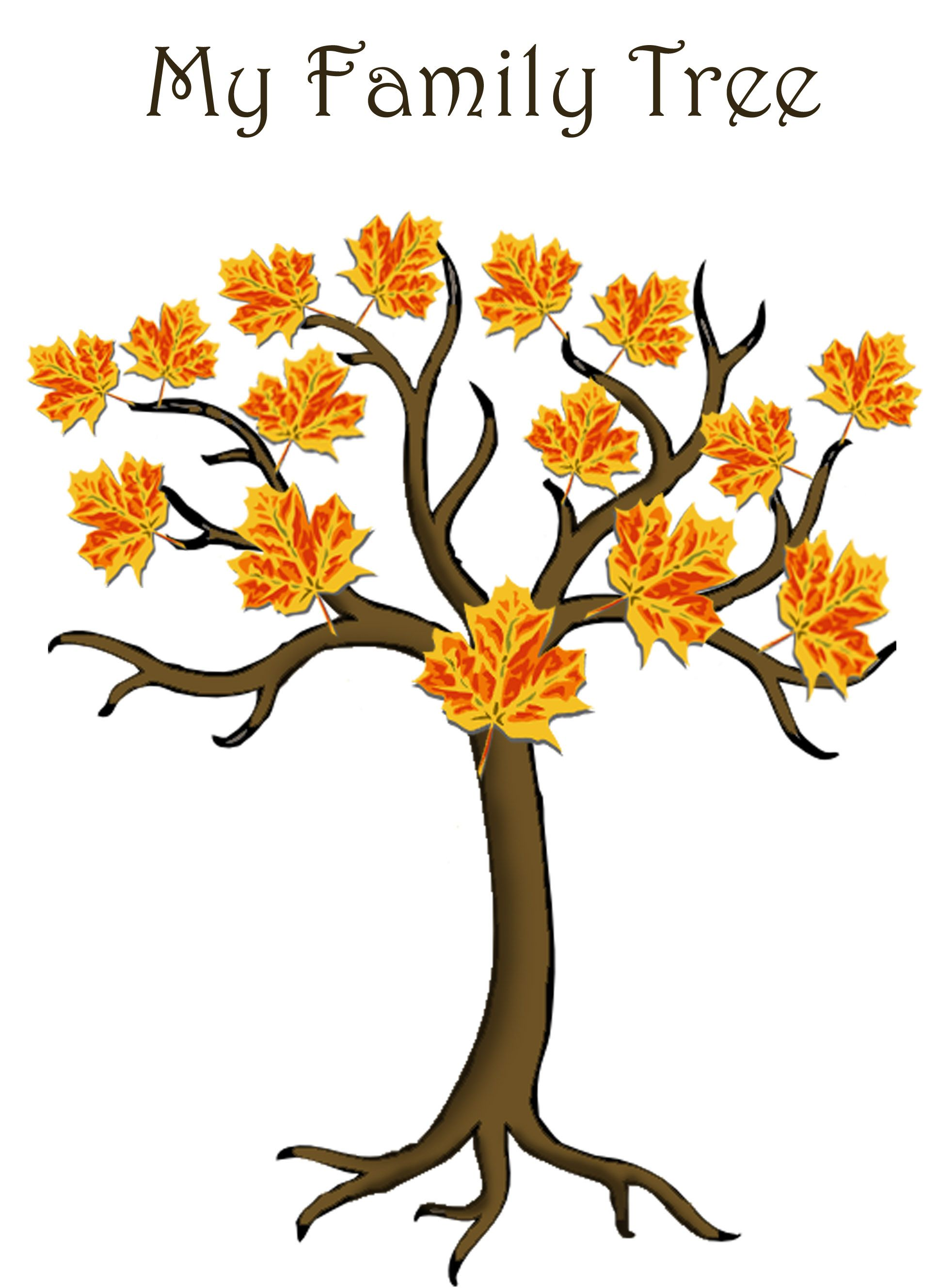 Simple 4 Generations Family Tree Template For Children To