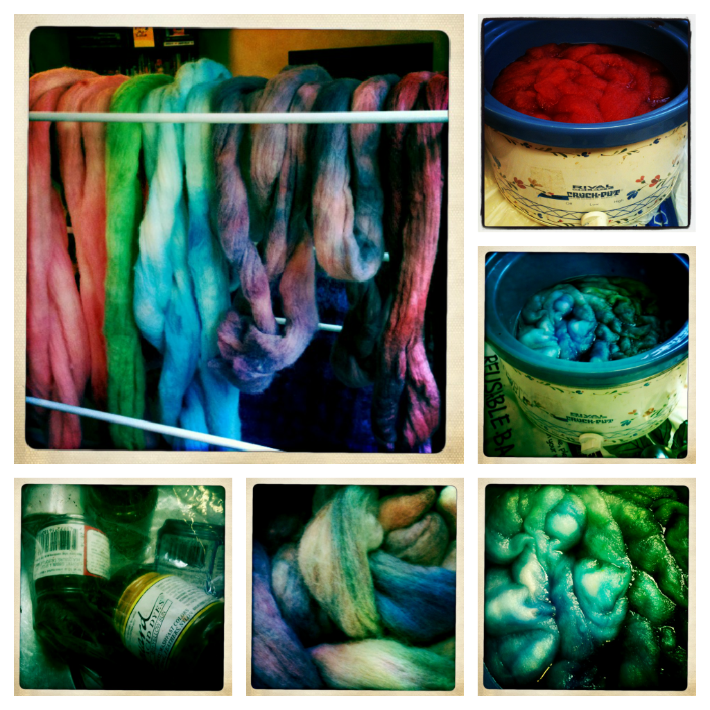dyeing wool roving in the crock pot How to dye fabric