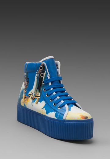 JEFFREY CAMPBELL Hiya Hi-Top Sneaker in Shuttle at Revolve Clothing - Free Shipping!