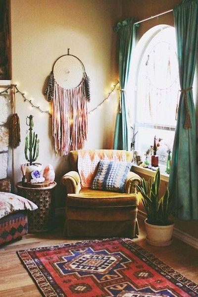 Cozy Boho Retro Home Decor Studio Apartment Decorating Bohemian Living Room