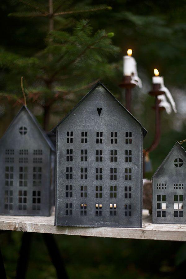 Lilla Majken Home Candles Galvanized Decor Tin House