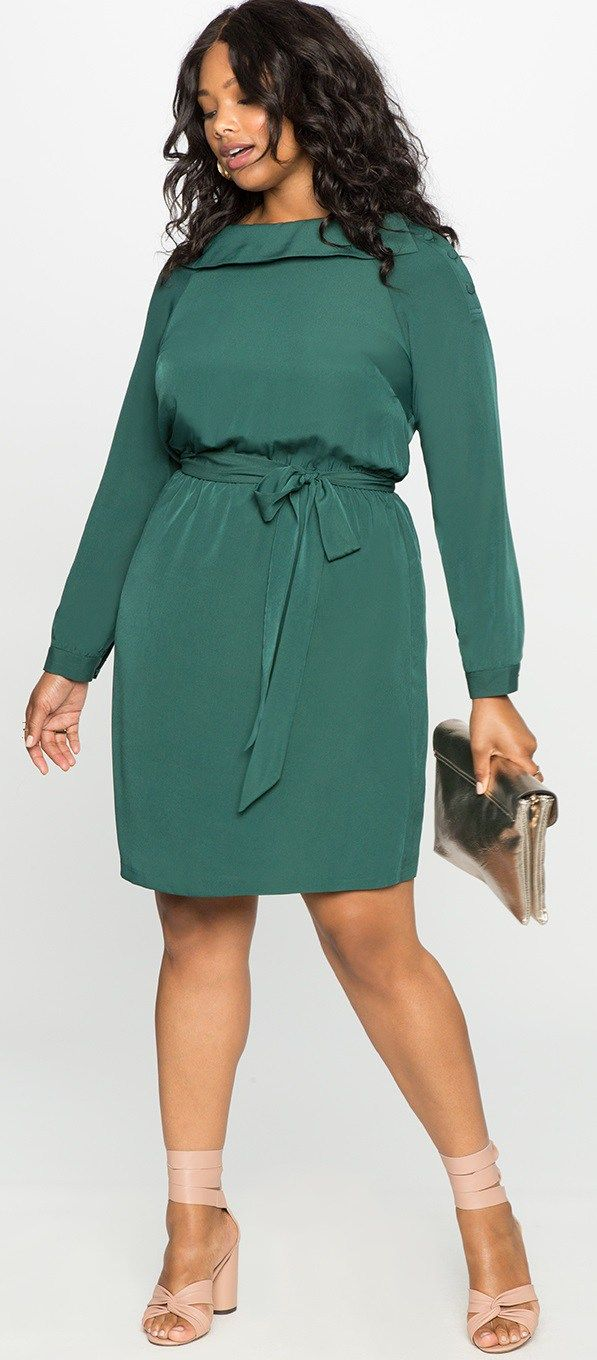12 Plus Size Holiday Green Dresses {with Sleeves   Holidays, Woman ...