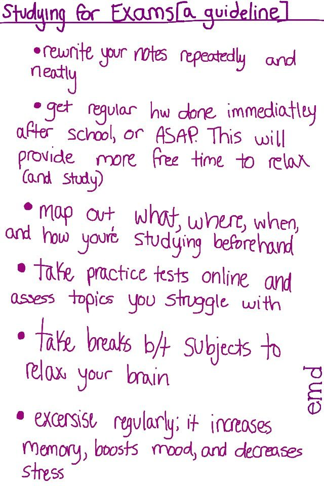 Studying for exams-exclusive tips from a high school honor ...