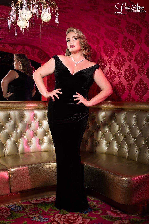 Plus size hollywood glamour dresses