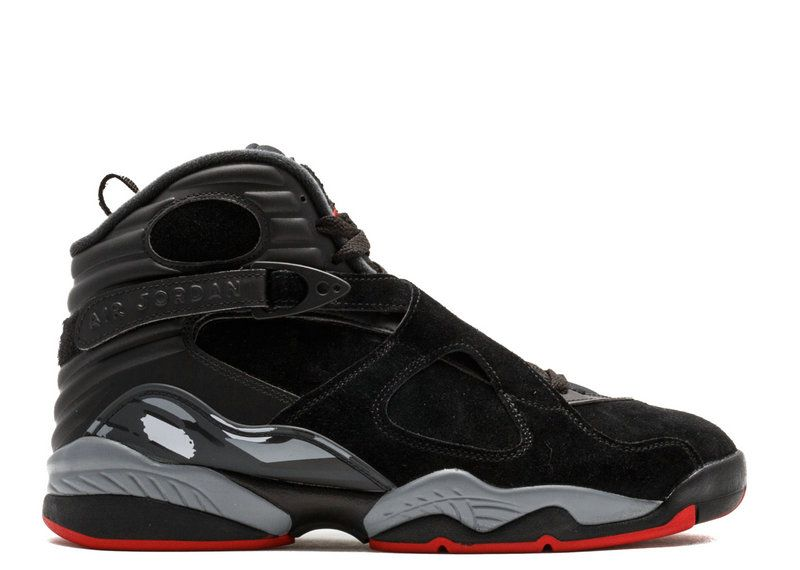 2018 New Arrival Air Jordan 8 Retro Black Gym Red Black Wolf Grey