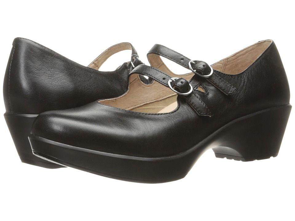 Dansko Josie Women's Shoes Black Nappa