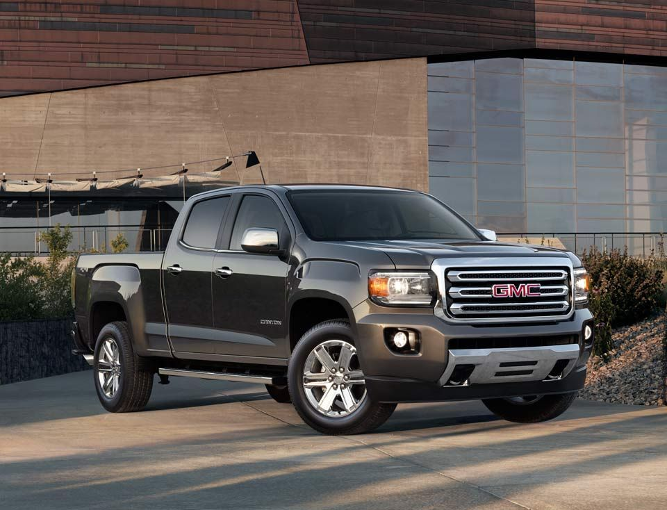 The 2016 Gmc Canyon Small Pickup Truck Comes With Available 4g Lte Built In Wi Fi Hotspot Small Pickup Trucks Pickup Trucks Gmc Canyon