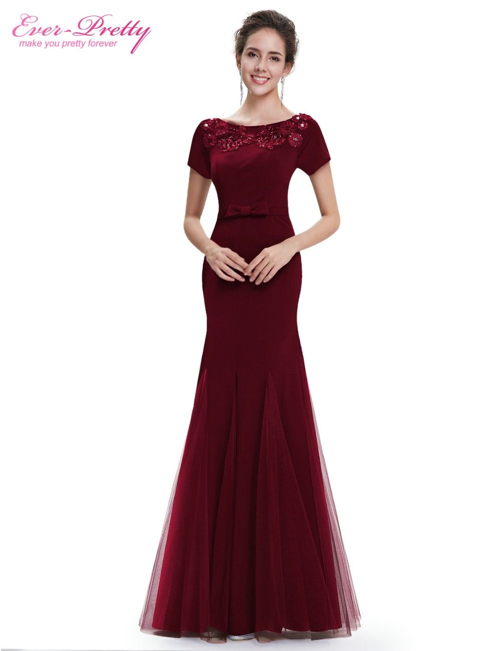 Ever pretty evening dresses he womenus elegant short sleeve