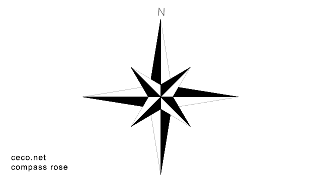Autocad Drawing Compass Rose North Arrow In Symbols Signs Signals North Arrows Compass Rose Drawings Autocad Drawing