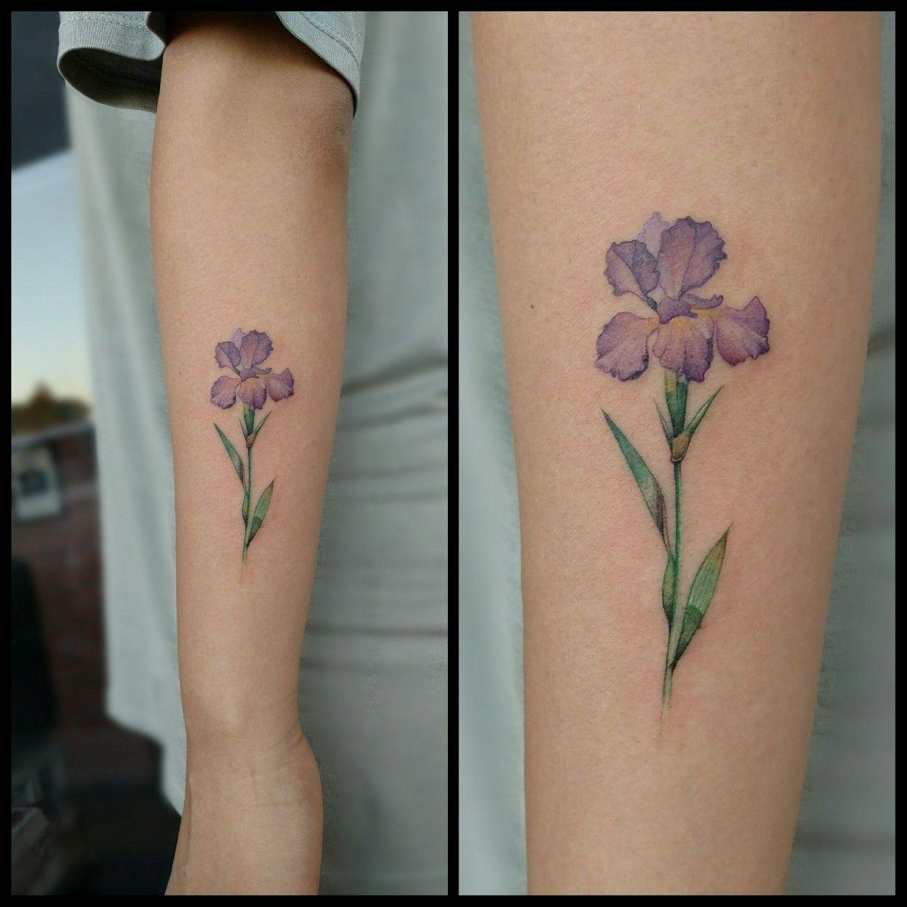Iris Flower Tattoo Iris Tattoo Iris Flower Tattoo Violet Tattoo