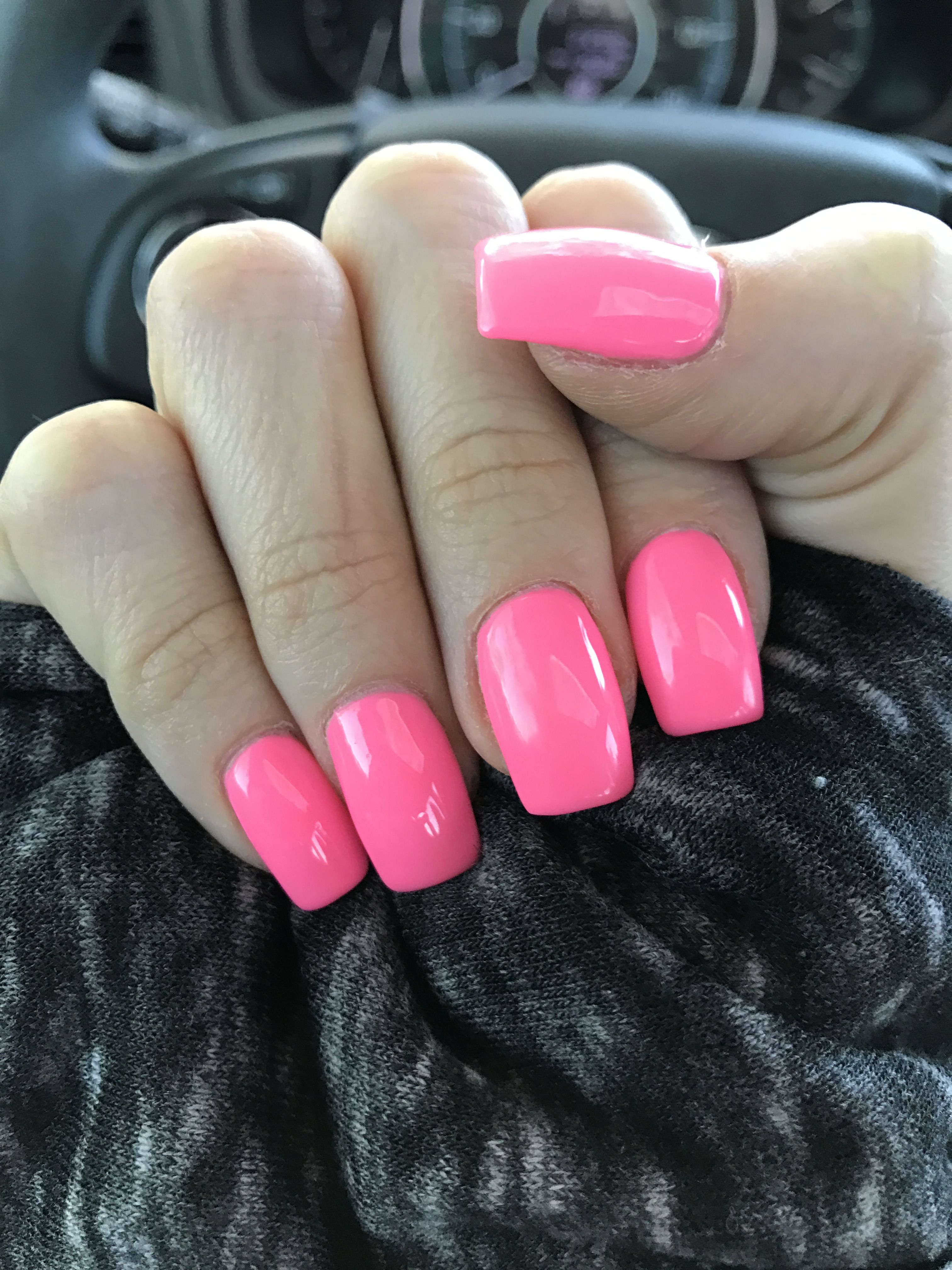 Pretty in pink acrylic nails (With images) | Pink acrylic