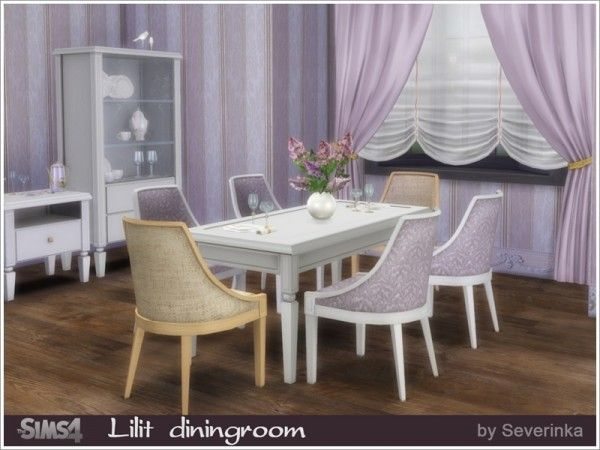 A Set Of Furniture And Decor For The Dining Room In Classic Style Found In  TSR Category U0027Sims 4 Dining Room Setsu0027