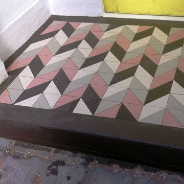 London Mosaic - Modern & Victorian Reproduction Geometric Porch ...