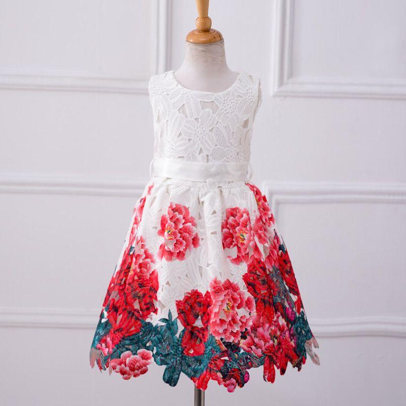 1cd9dda68 4-8T girls summer dress costume for kids 5 year old girl dress baby ...