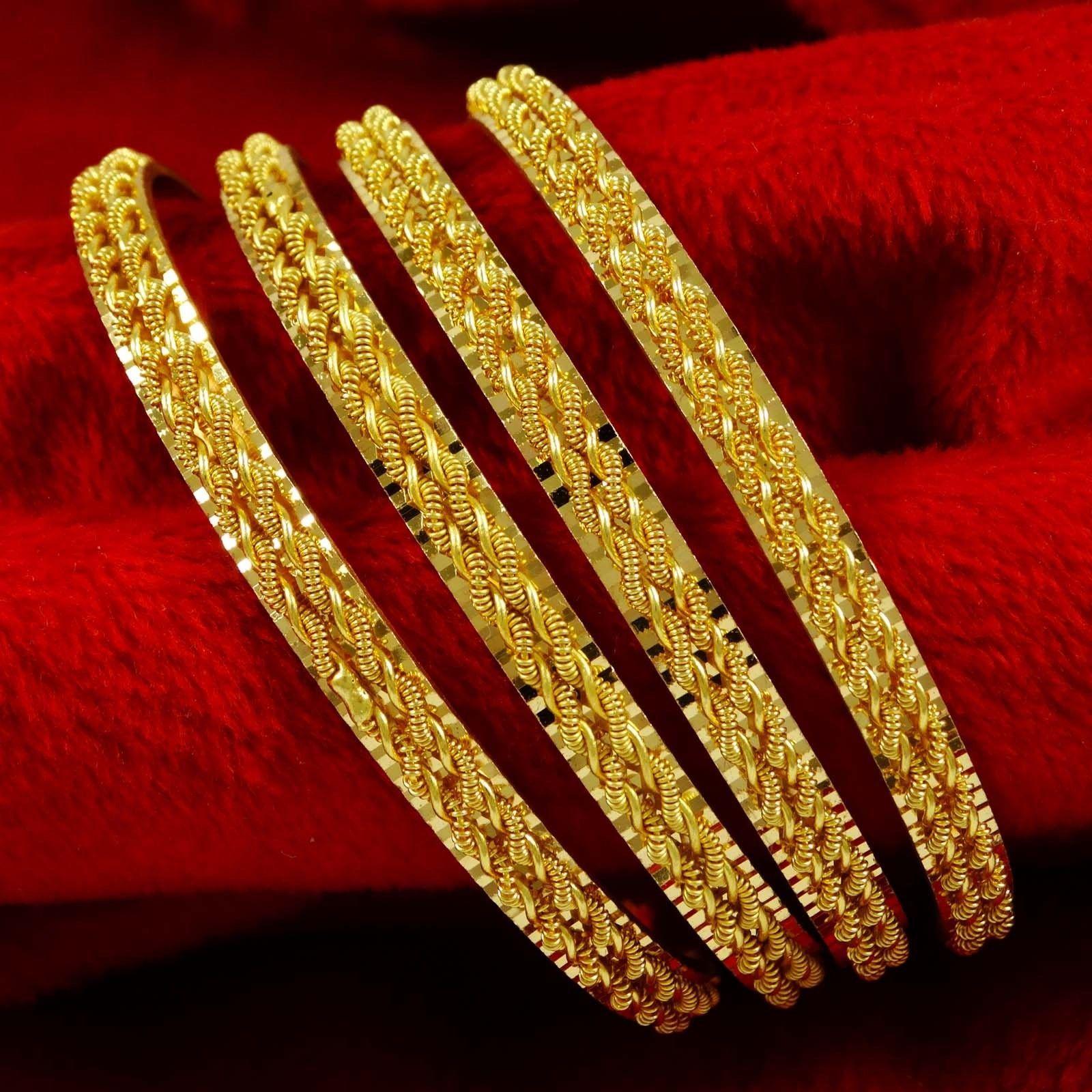 Bridal & Wedding Party Jewelry Traditional Indian Bangles Set Ethnic Kada Bracelets Wedding Jewellery 2*10
