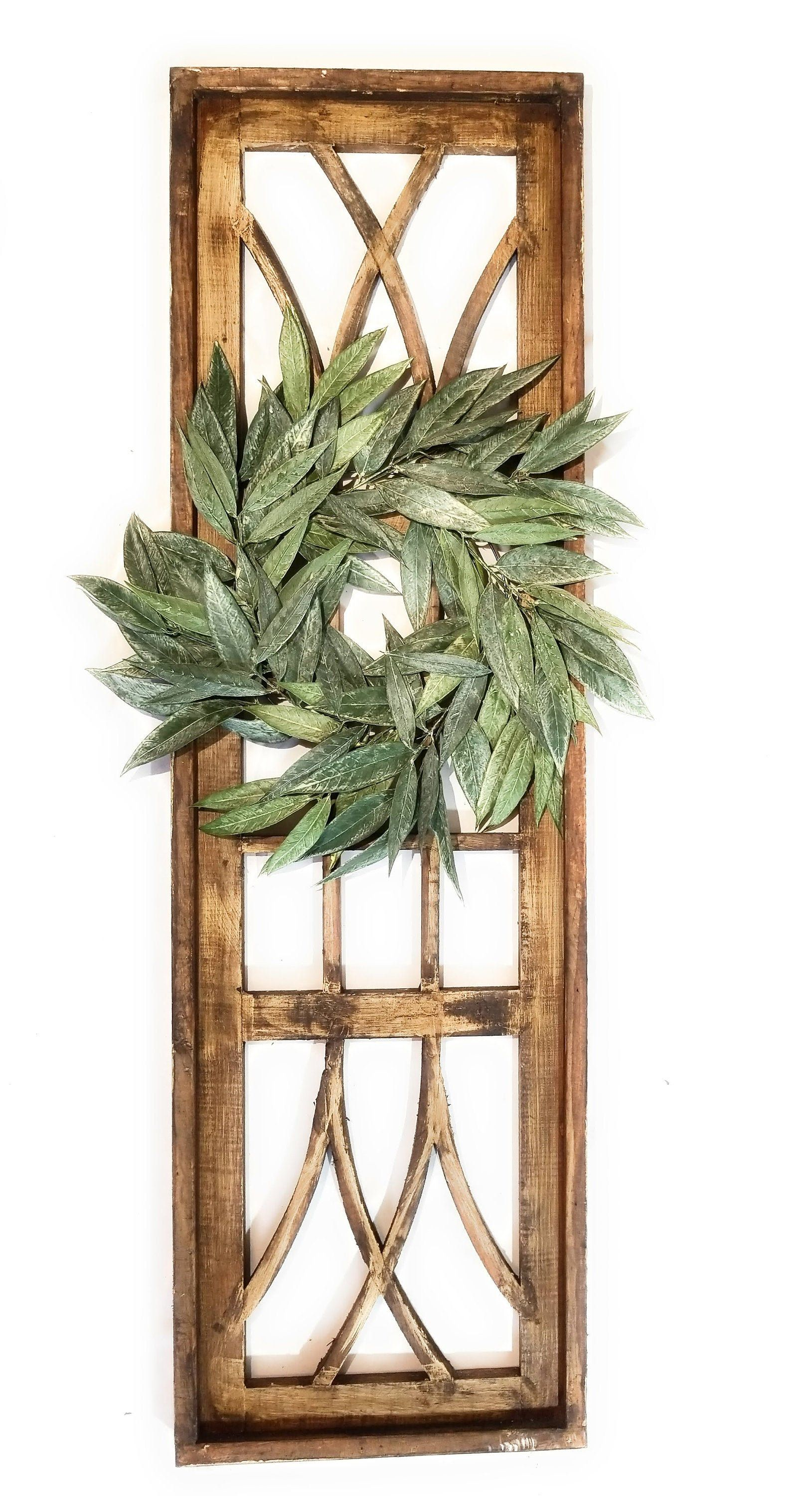 Farmhouse Wooden Wall Window Arch Large Wood Window Frame The Longview Two Sizes 48 And 60 Wreath Option Wood Window Frame Farmhouse Wall Decor Window Wall Decor