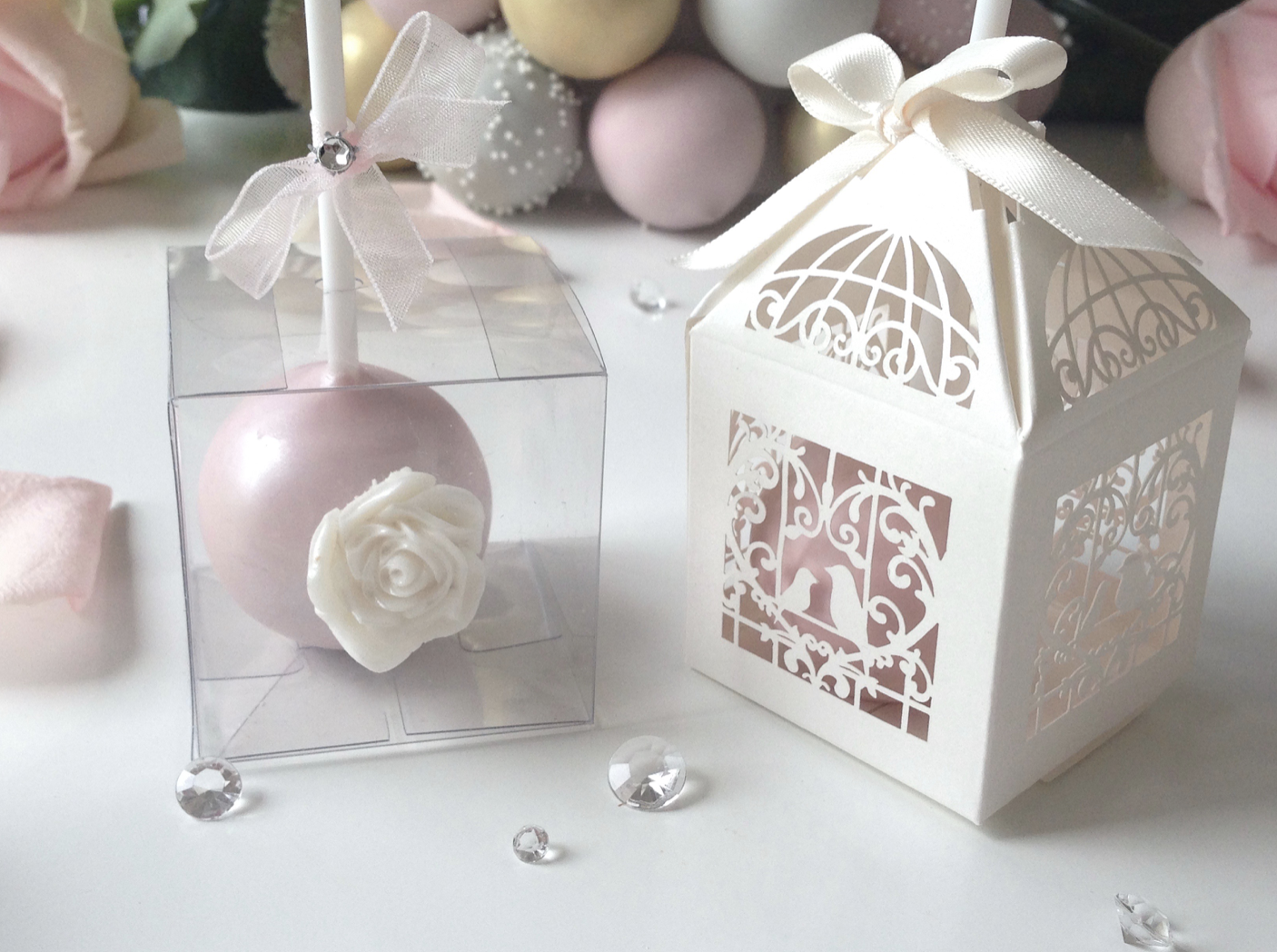 Beautiful handmade wedding cake pops. We tailor designs to co ...