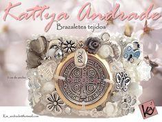 brazalete tejido, decorado