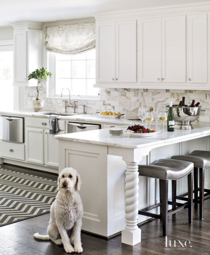 Small White Kitchen Island: Top 10 Most Popular Luxe Kitchens From 2015 In 2019