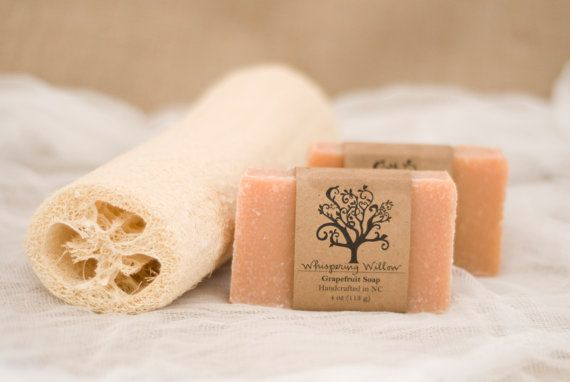 All Natural Handcrafted Grapefruit Vegan by WhisperingWillowSoap