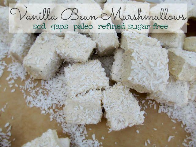 Vanilla Bean Marshmallows- GAPS SCD Paleo  #SweetKissesandDirtyDishes