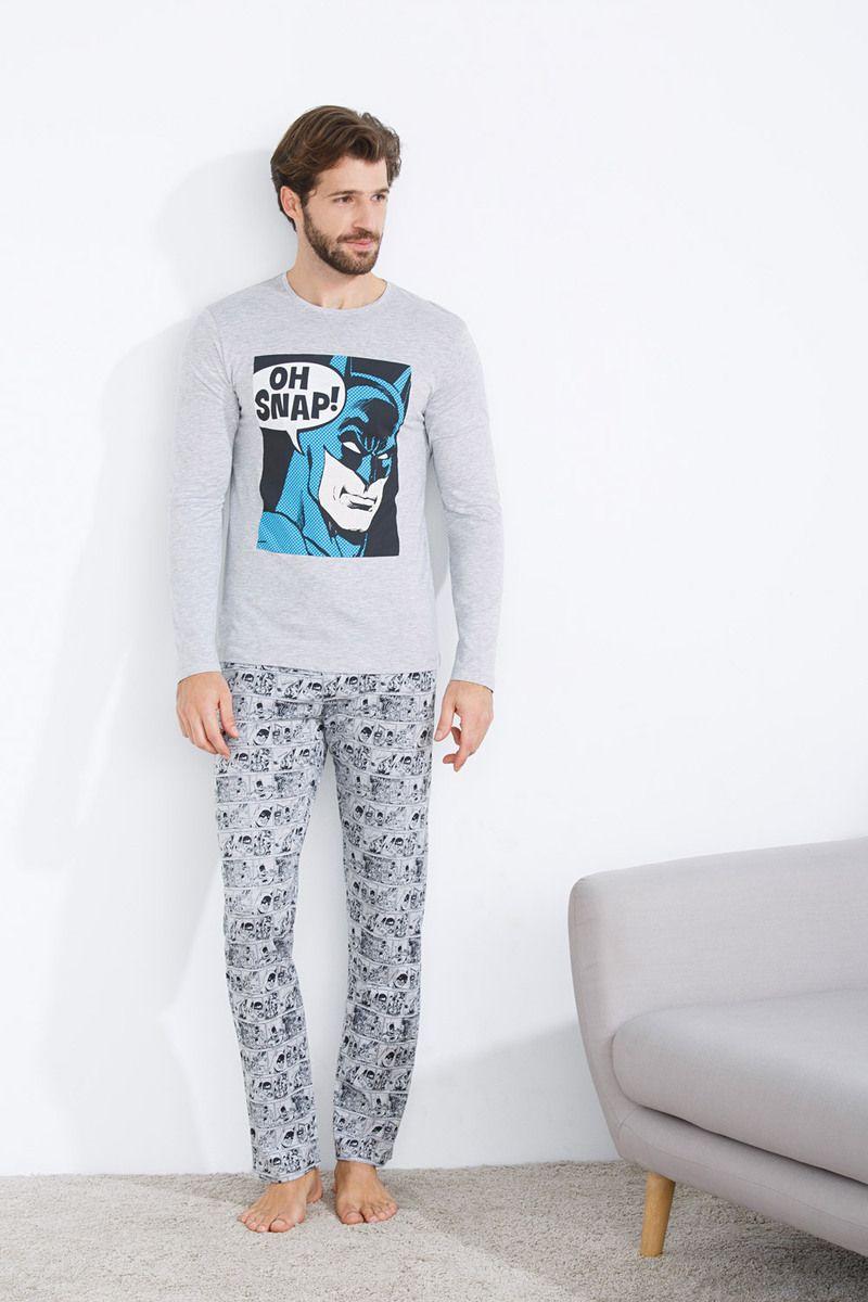 3e4a47ab35 Pijama largo de Batman para hombre