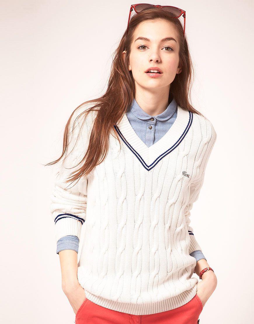 798f9032c552d Lacoste Cricket Jumper. Classy | Women's Style | Fashion, Latest ...