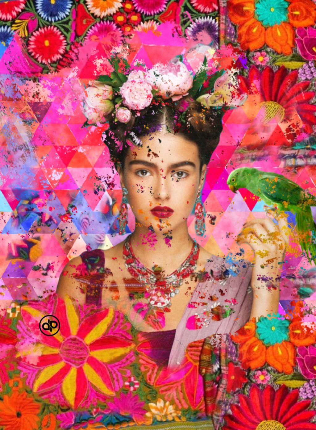 Fractured Frida. #digitalcollage #digital art #collage #instart ...