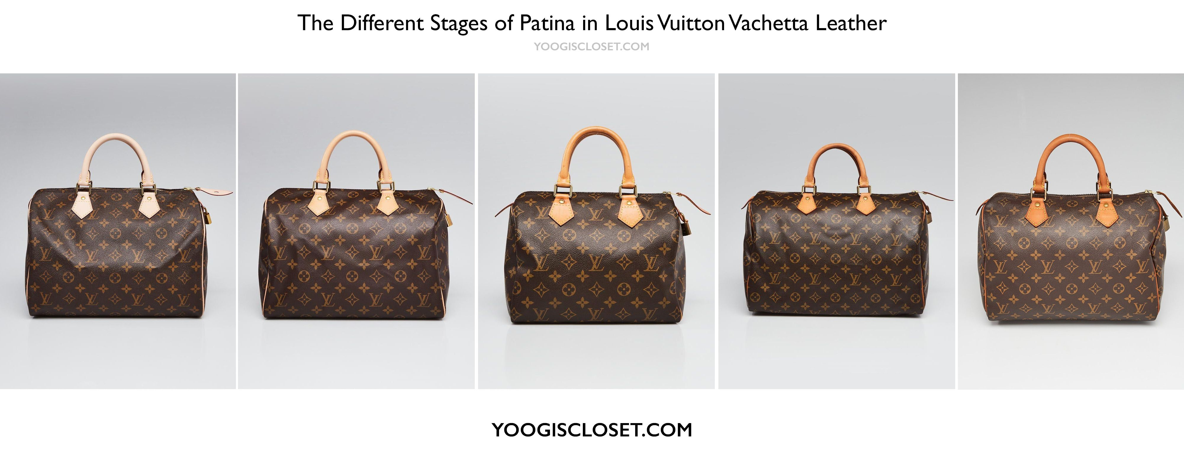 9a04e935a749 Louis Vuitton Vachetta Leather Patina Stages