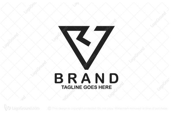 modern logo of two letter v and r combined together into stylized vr logo color is black tags technology tech hi tech v r v r letter typo typographic
